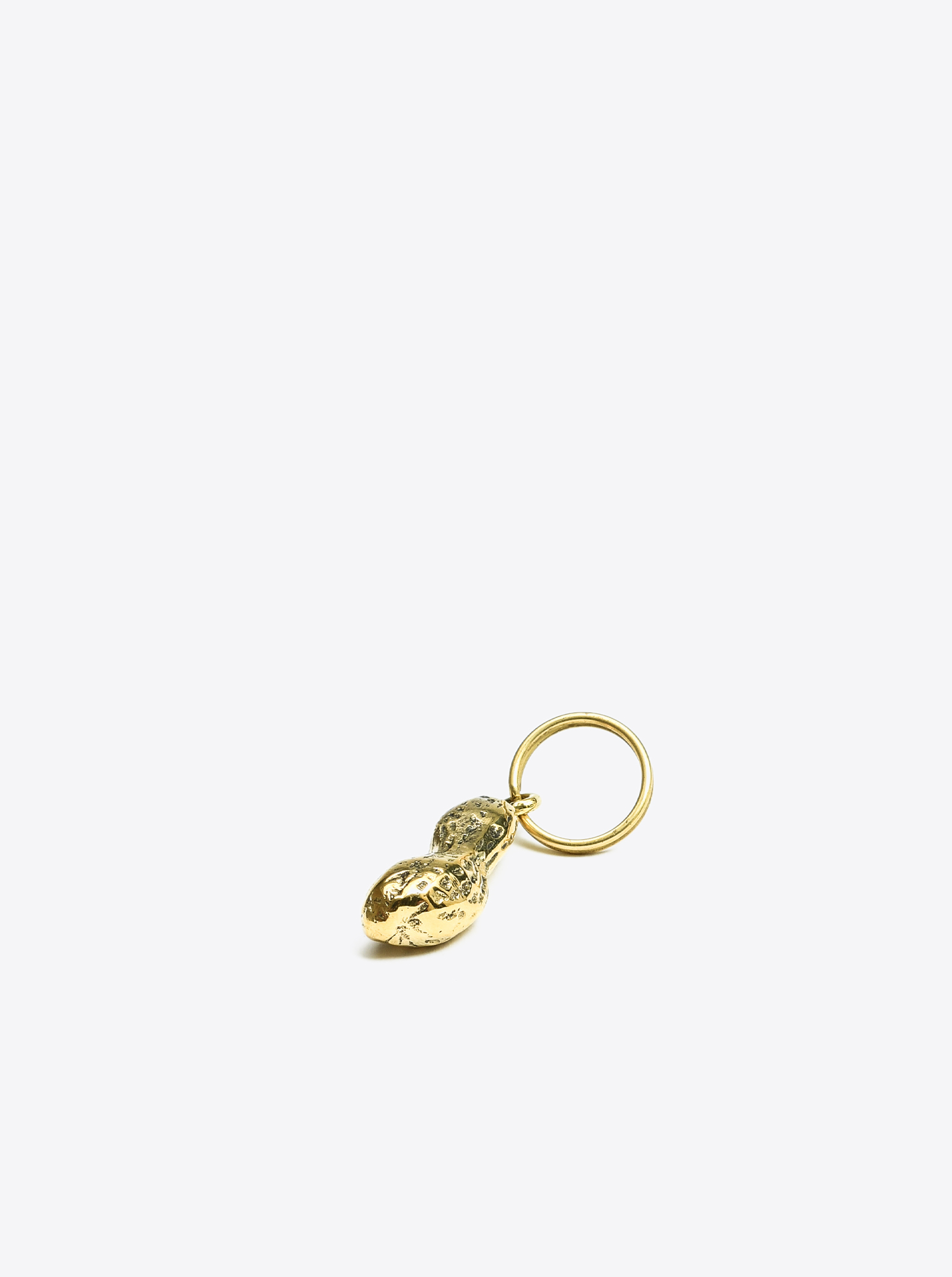 "Key Chain ""Pea Nut"" Brass polished"