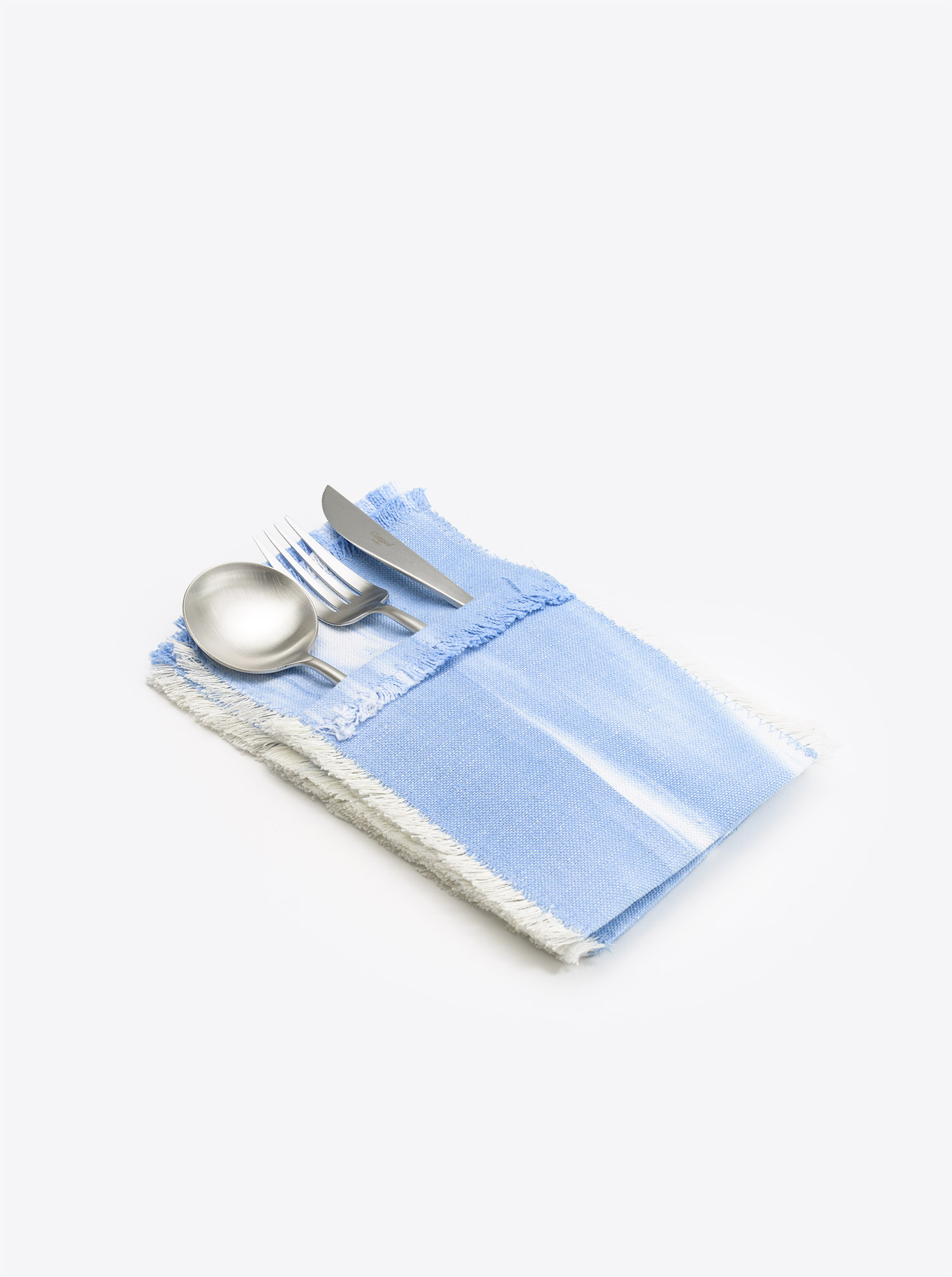 Cutlery Holder Set 6 pieces Cubierto Ikat light blue