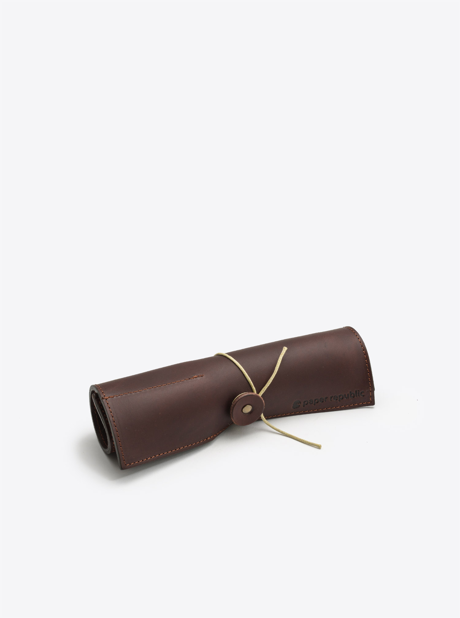 Leather Roll Le Porte Plume Chestnut