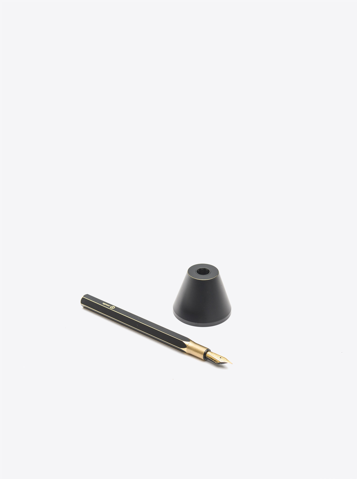 Desk Fountain Pen Brass black patinated