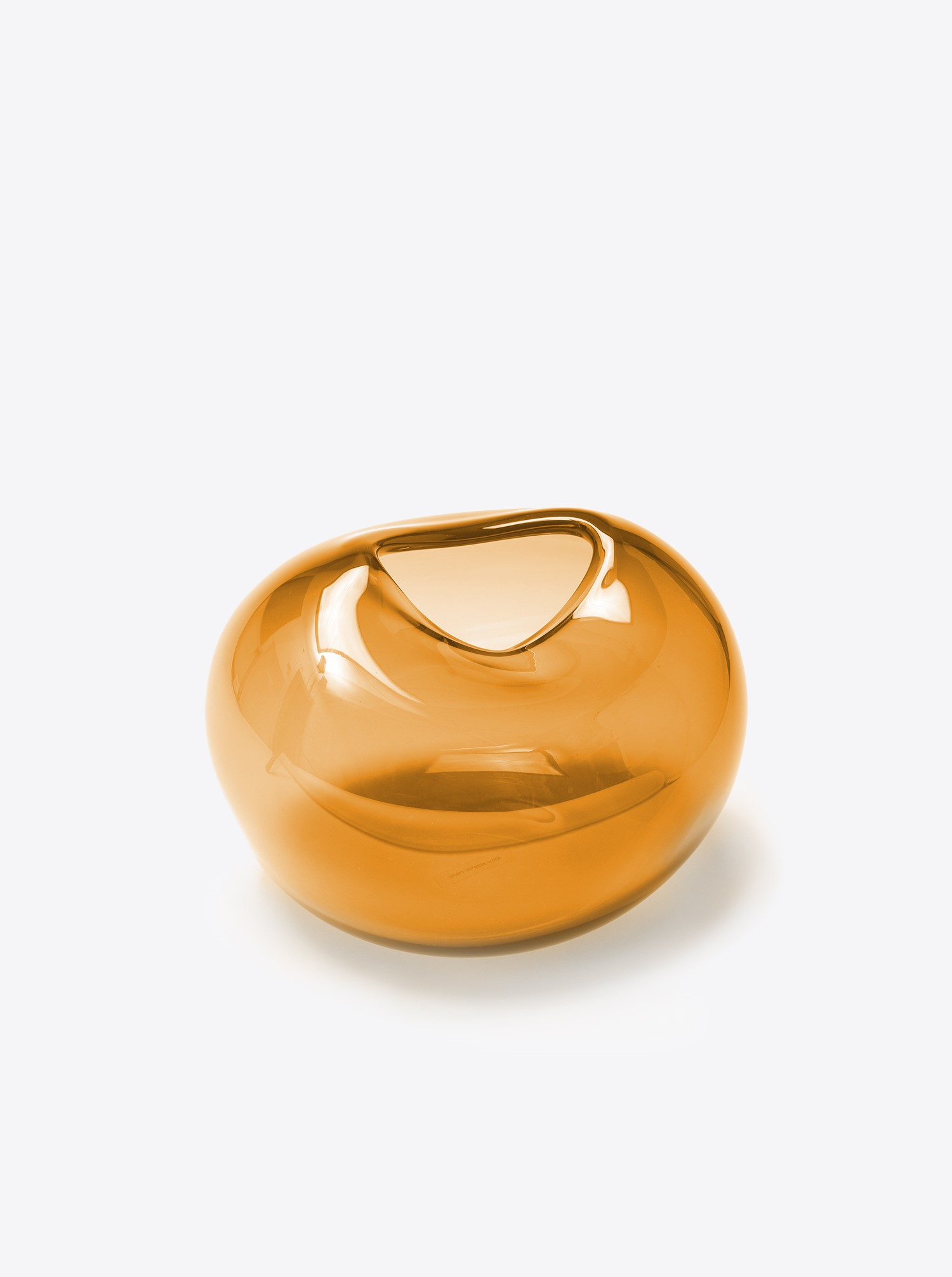 "Vase ""Pebble Vase"" L Glass gold"