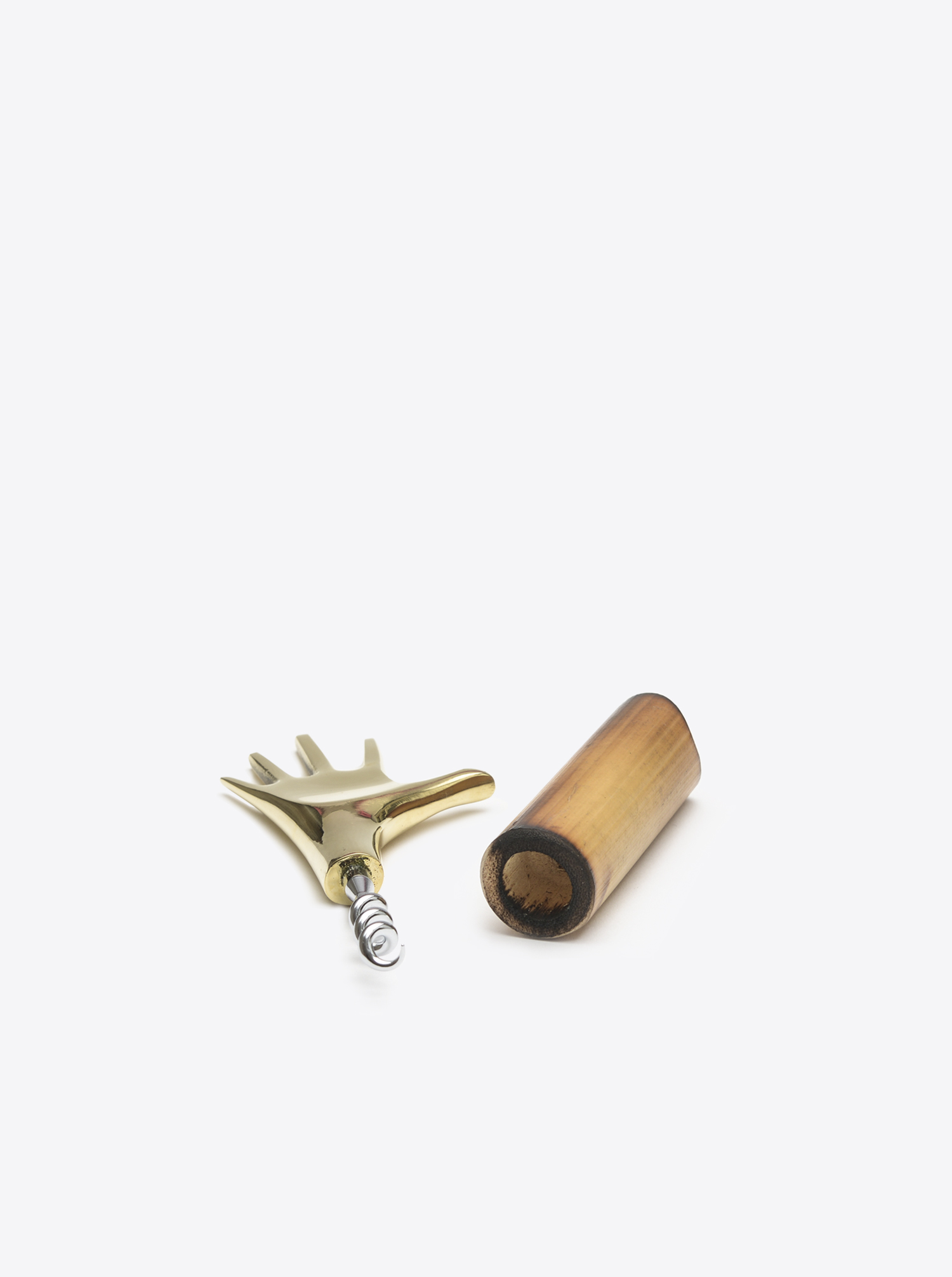 "Corkscrew ""Hand"" Brass polished"