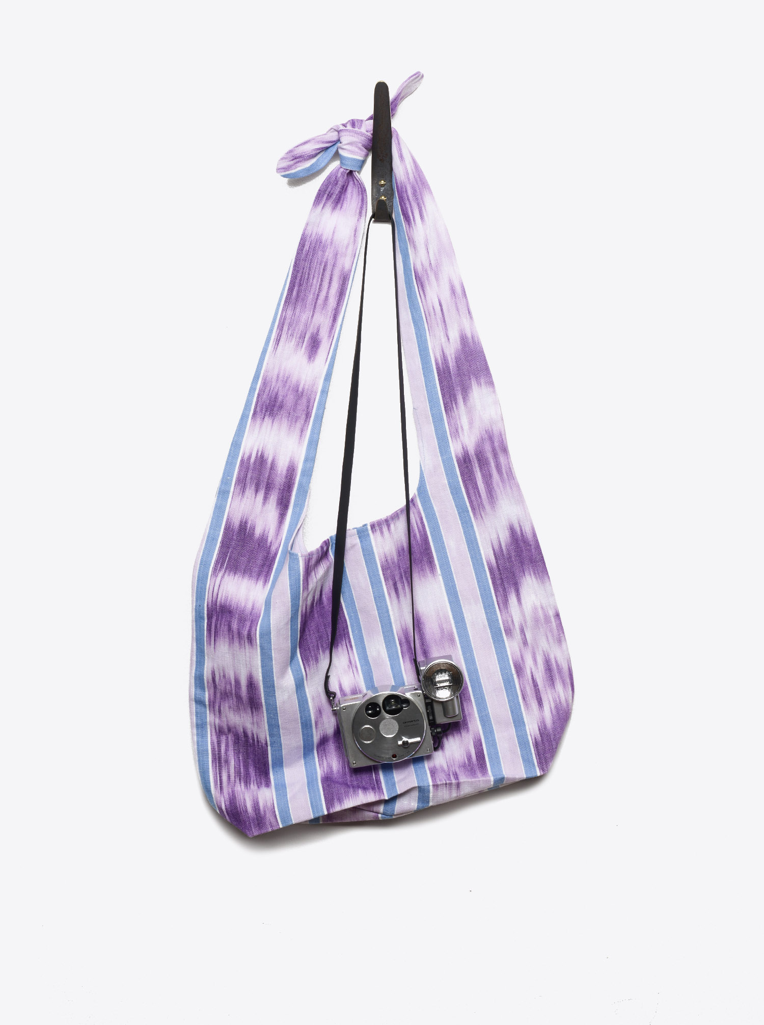 Bag Furoshiki Ikat purple blue