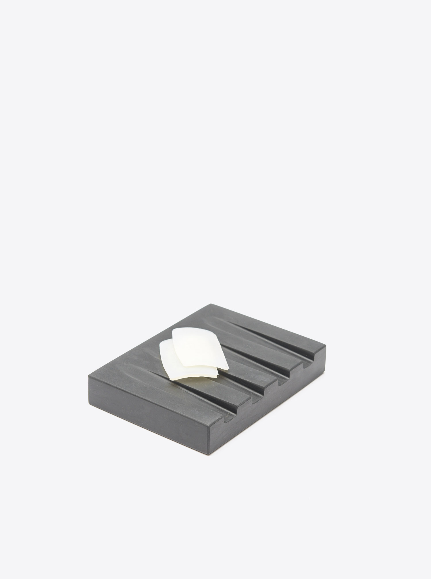 Soap Dish Marble black. Design Kristine Five Melvær for when objects work.