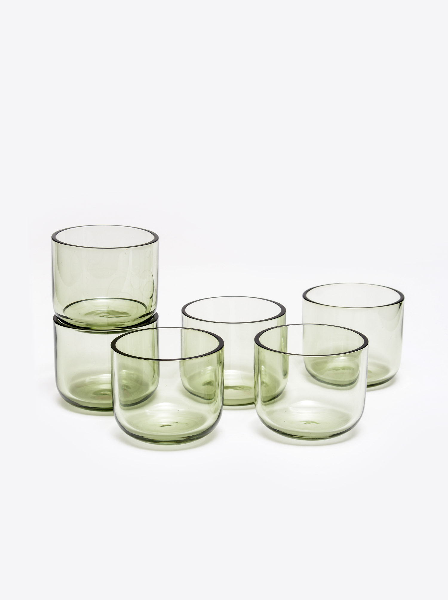 Water Wine Glass Set 6 pcs smoke
