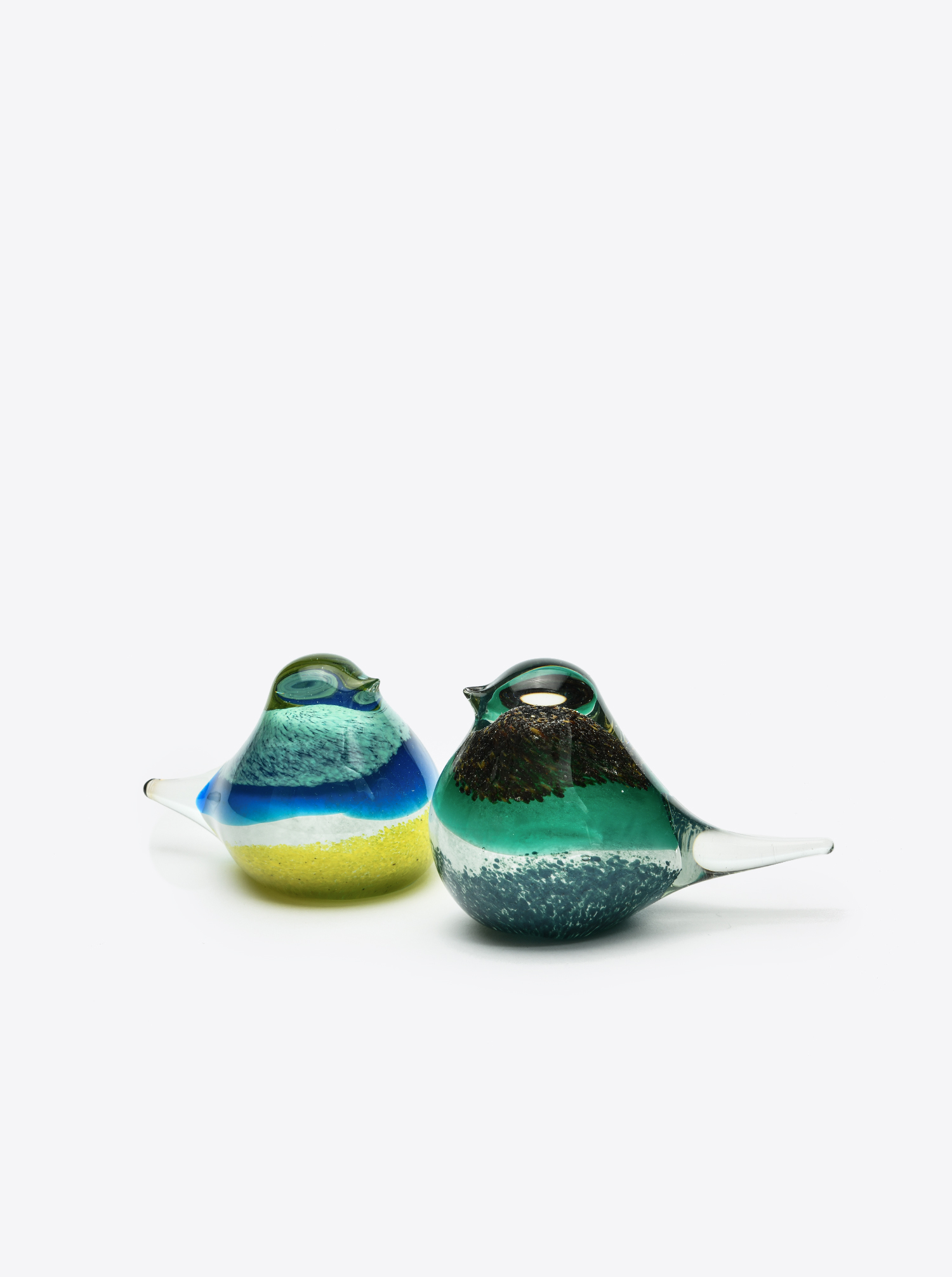 "Glass Bird ""Atlas"" blue yellow"