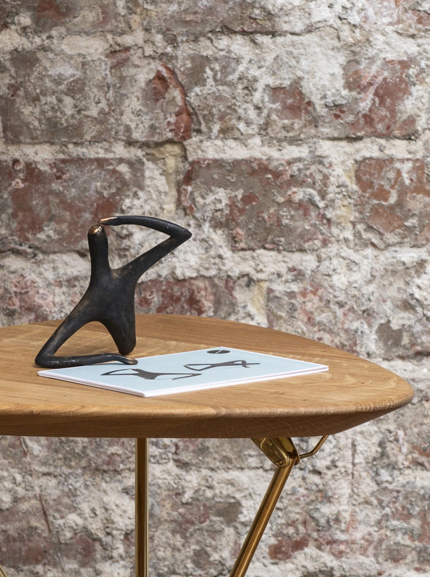 "Sculpture ""Optimist Pessimist"" Brass patinated"