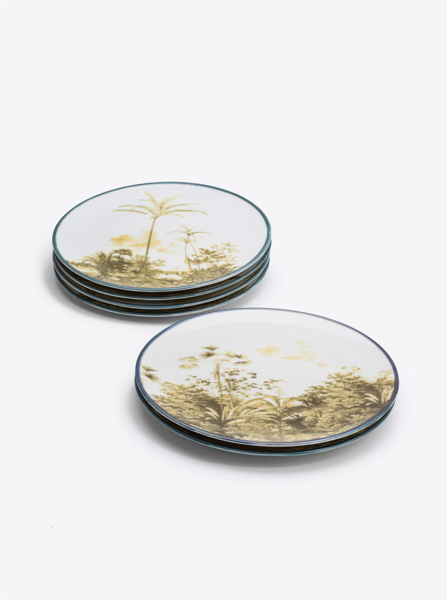 Plate Set Las Palmas 6pieces sepia D21