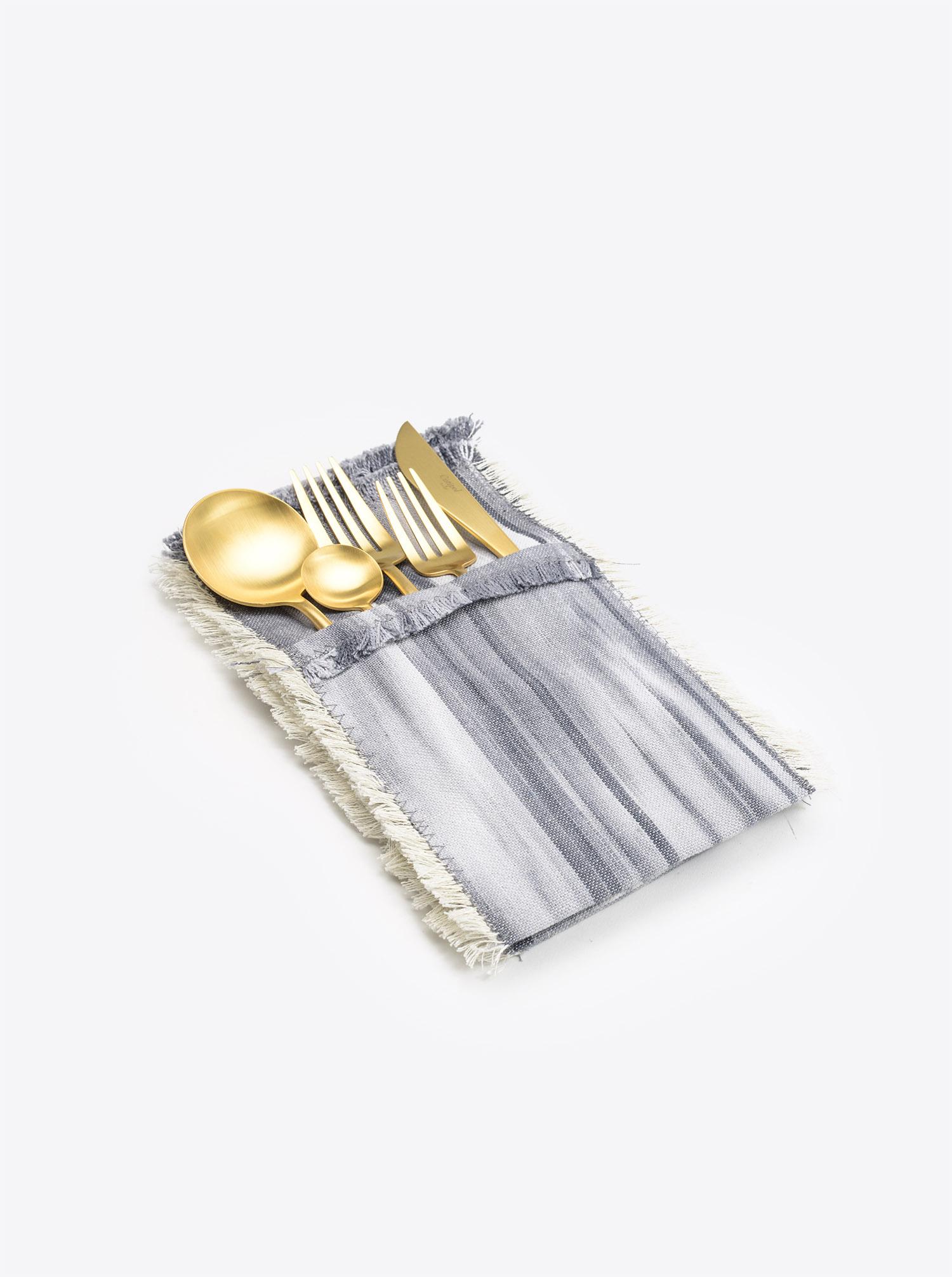 Cutlery Holder Set Cubierto 6 pieces Ikat darkgrey