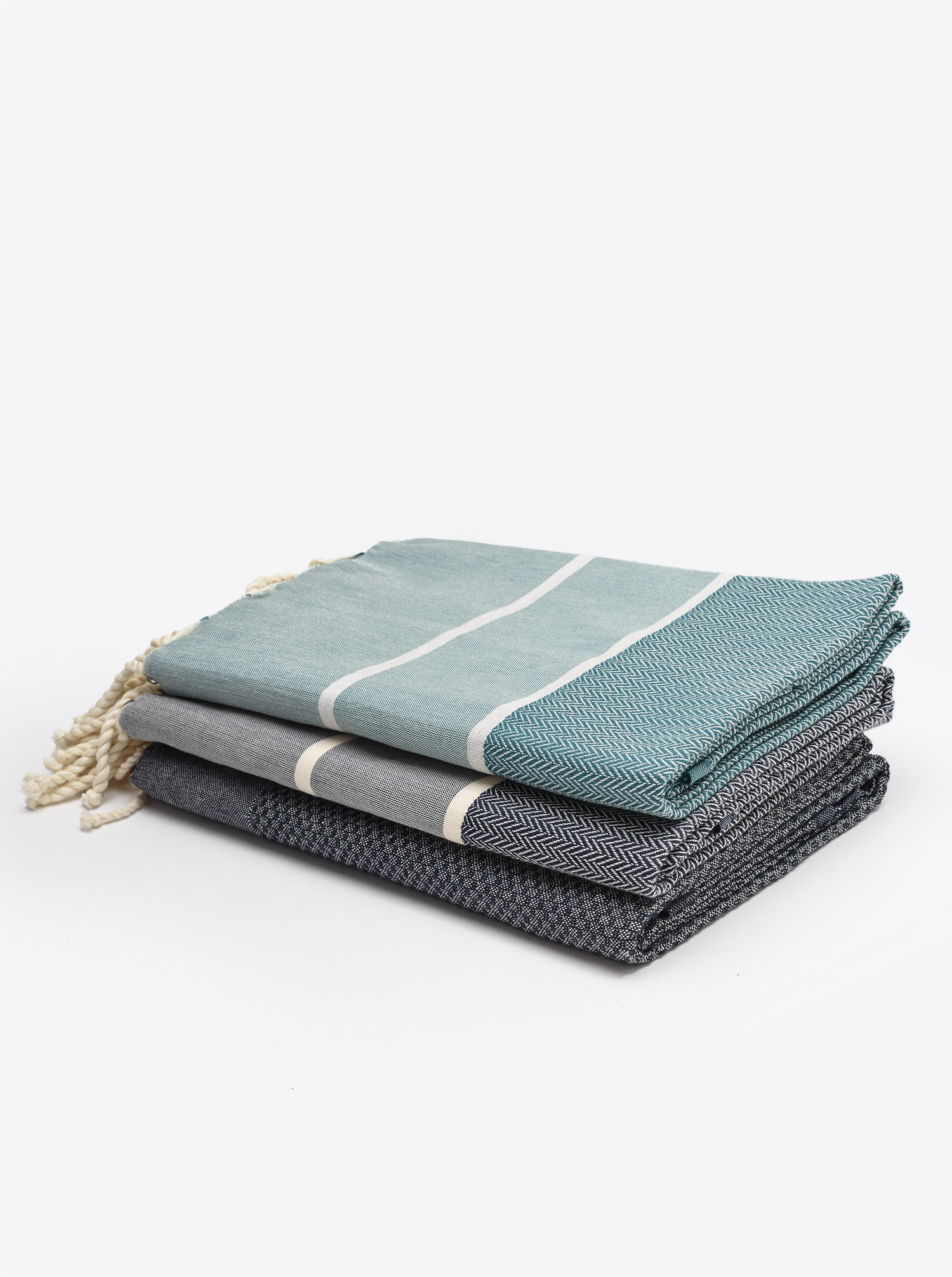 Fouta Hammam Towel chevron green