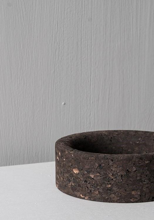 Zylinder Schale niedrig MC03 Kork schwarz geflammt