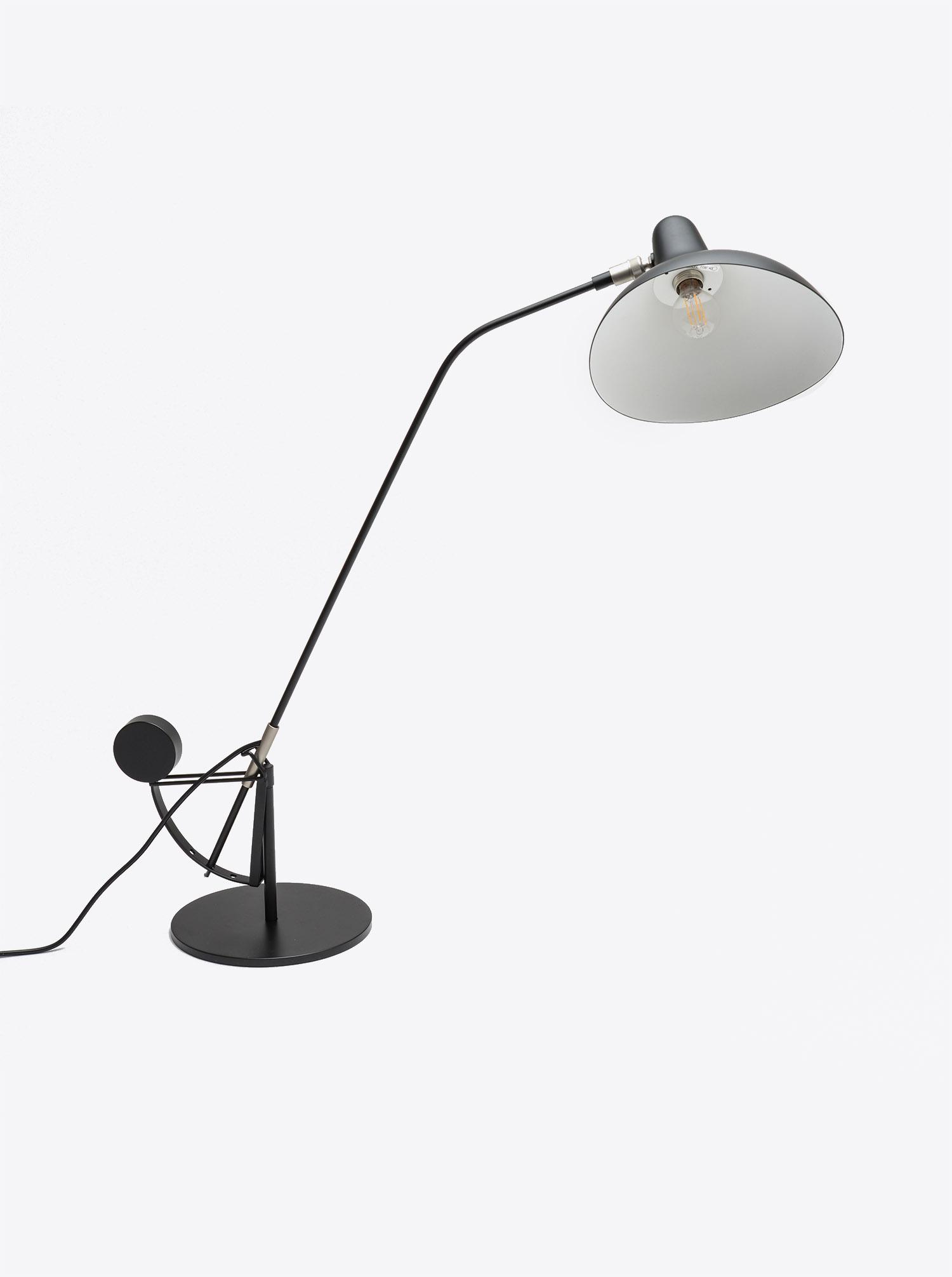 """Table Light """"Mantis"""" black Design Bernard Schottlander 1951"""