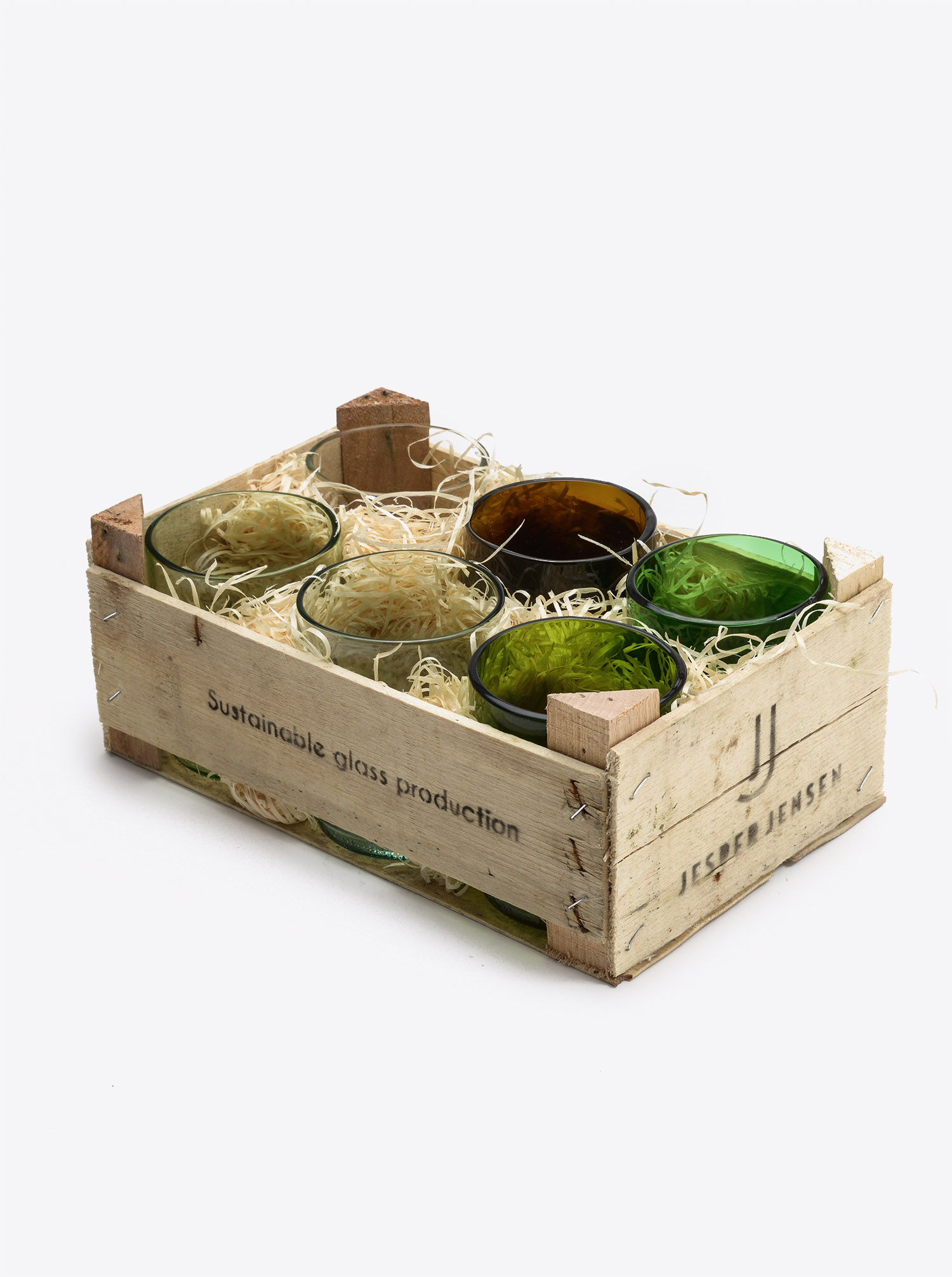 Glass Set 6 pcs with wooden Box