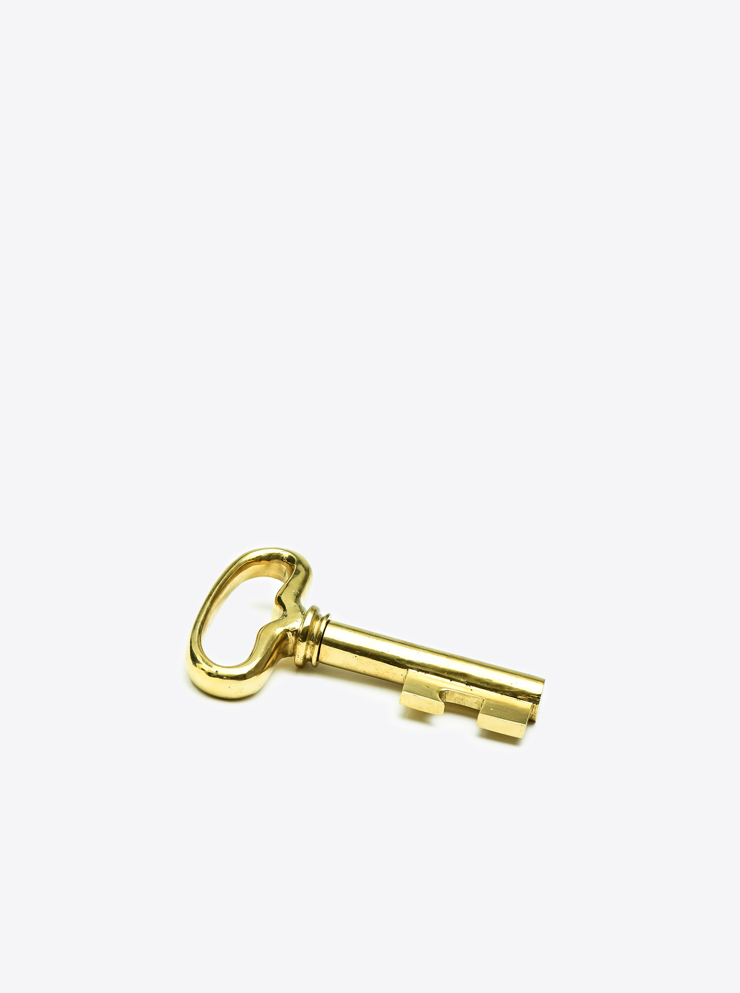 "Korkenzieher ""Schlüssel"" Messing poliert"