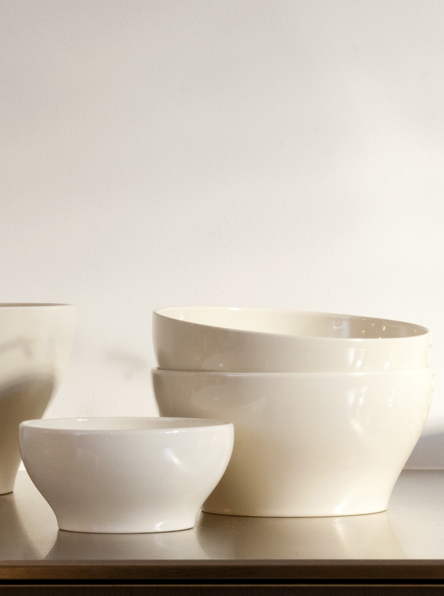 Bowl Stoneware off-white S