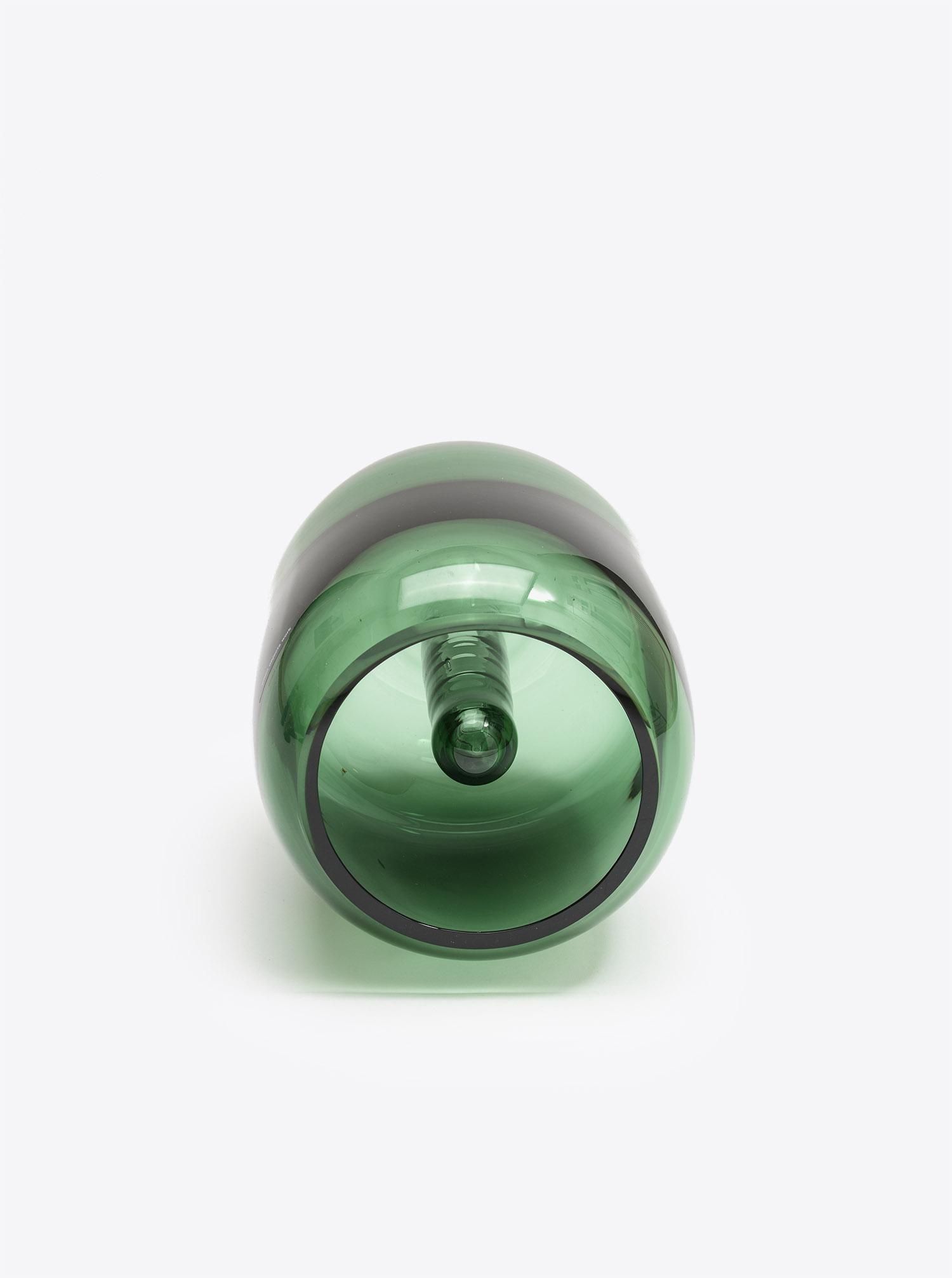Vase Soft Vase L Glass green