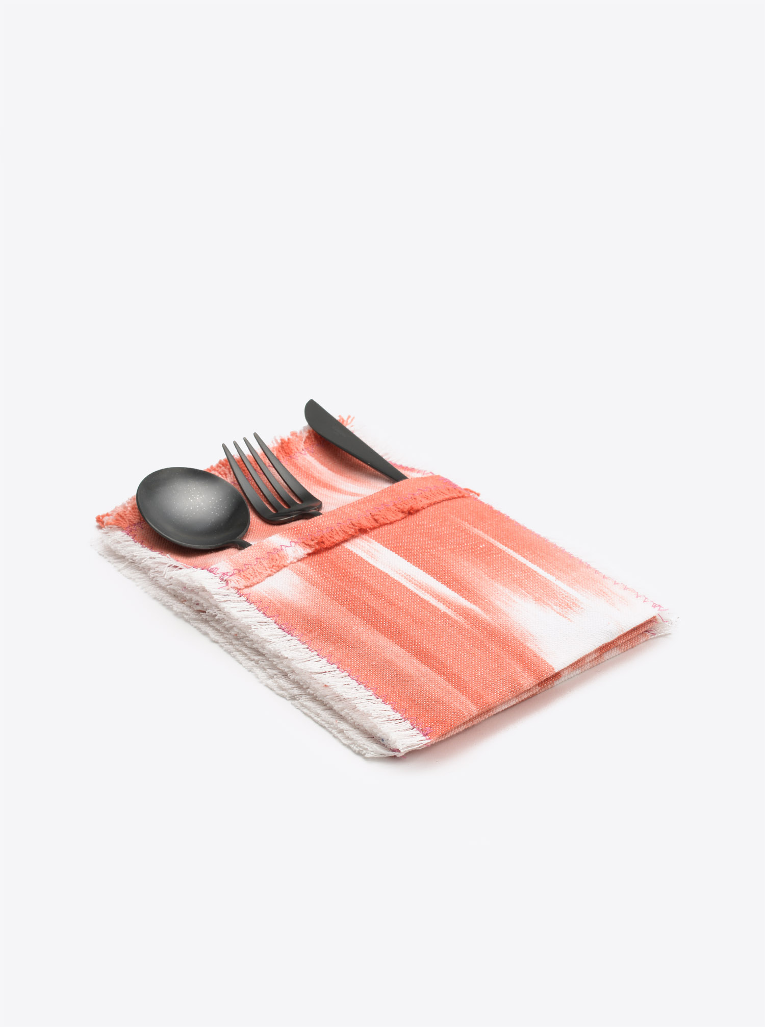 Cutlery Holder Set Cubierto 6 pieces Ikat pink coral