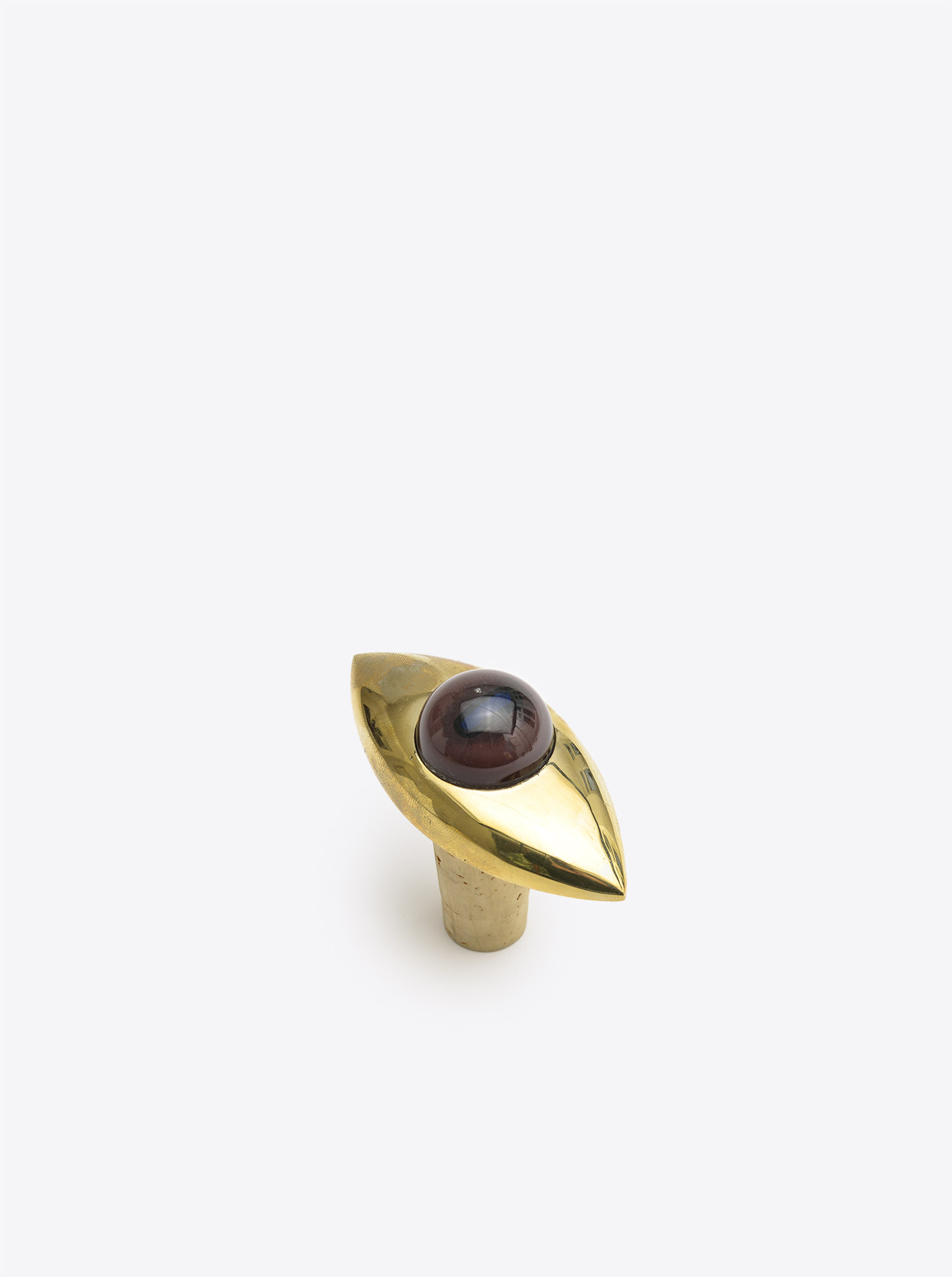 "Bottle Stopper ""Eye"" Brass polished with Glass"