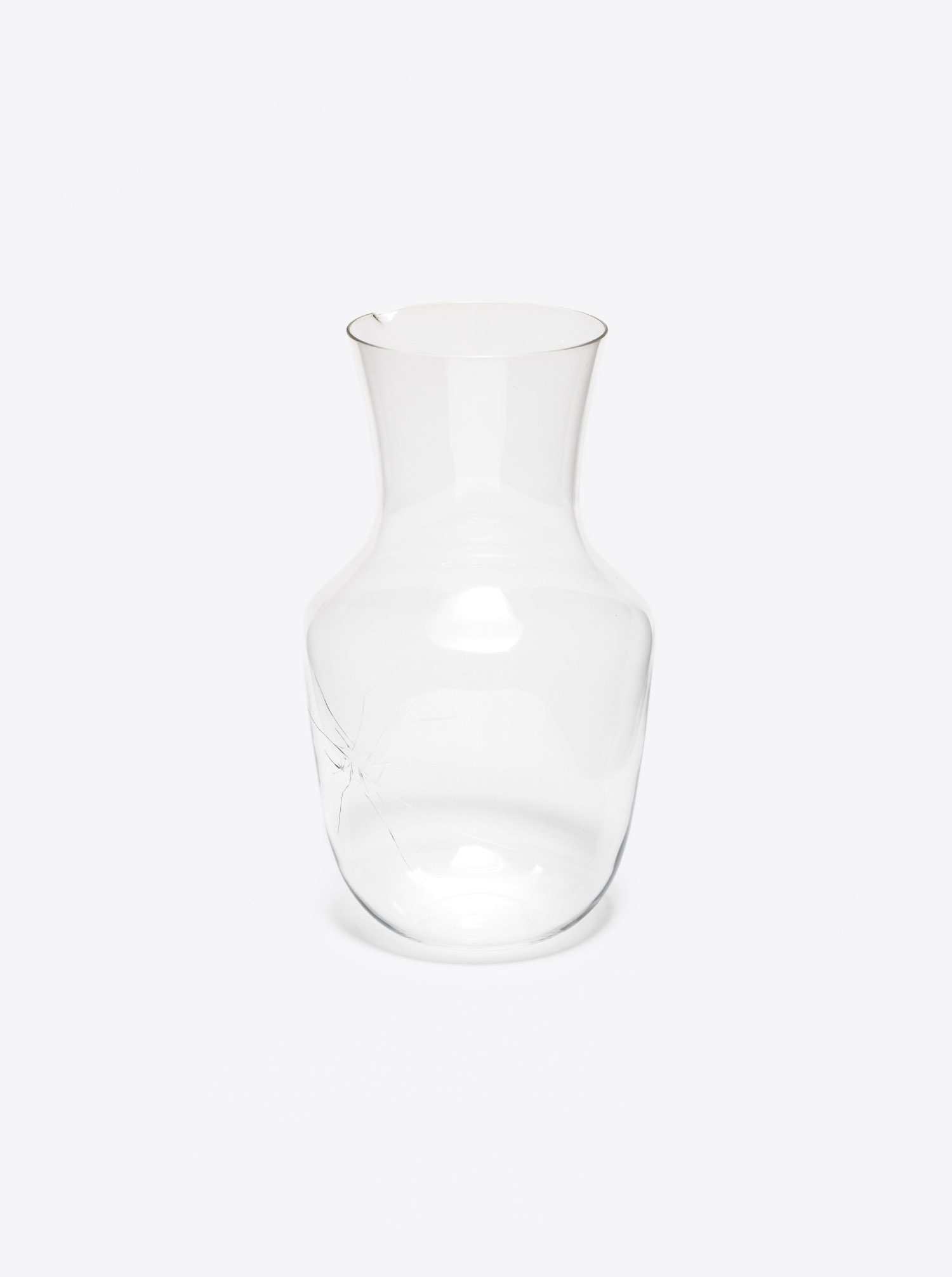 "Carafe Glass ""Alpha Crack"""