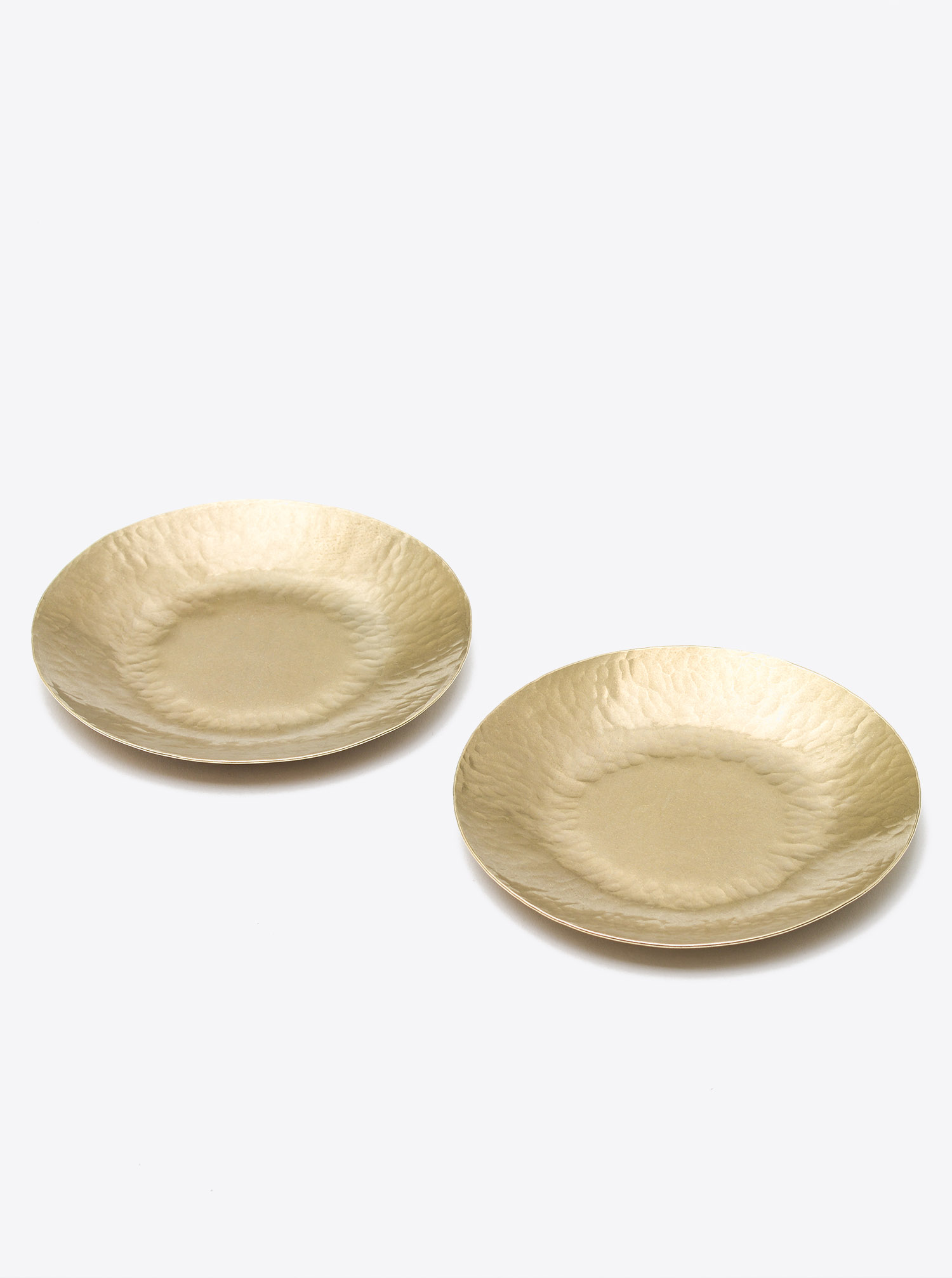 Set of 2 Plates Brass D12