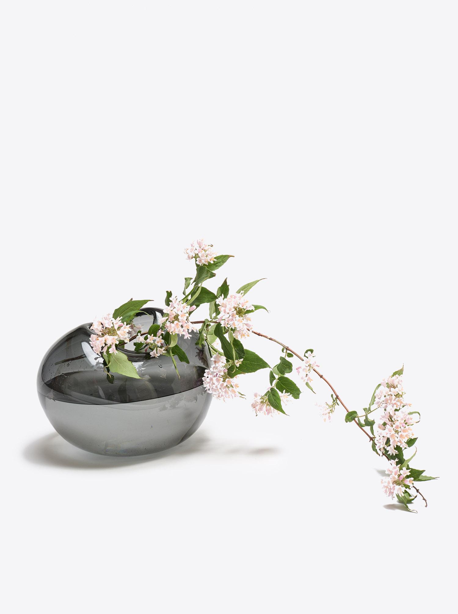 Vase Bubble Vase L Glas grey