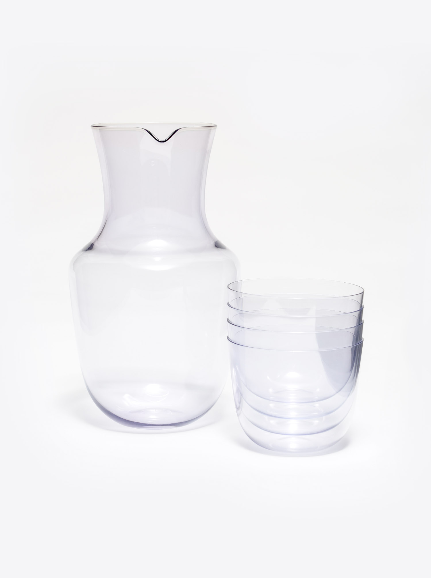 "Carafe ""Alpha"" Glass amethyst"
