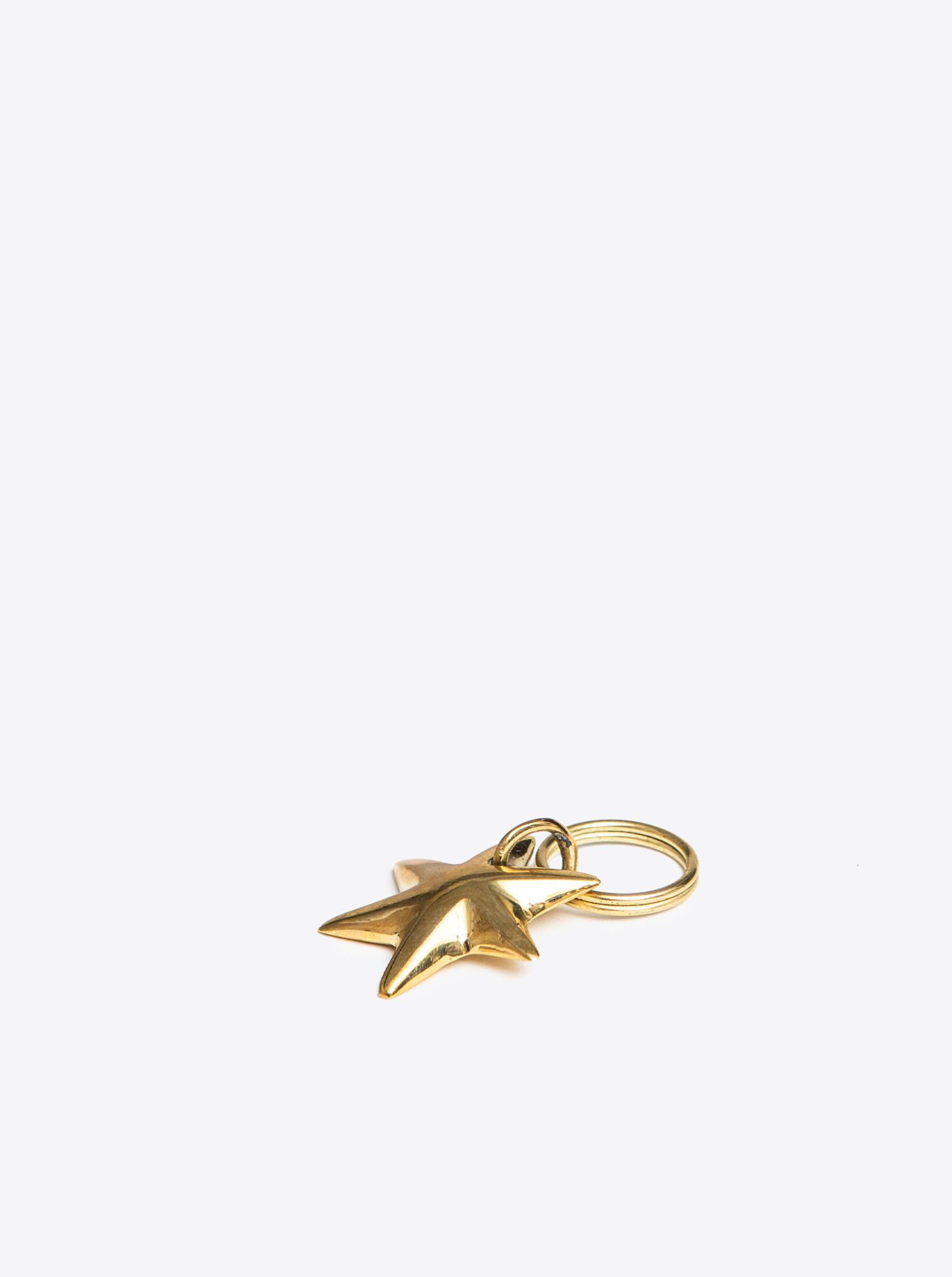 """Key Chain """"Star"""" Brass"""