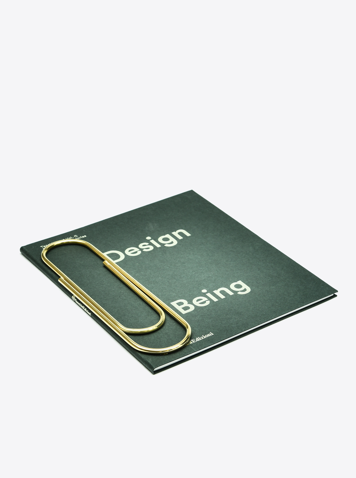 """Bookmark """"paper clip"""" XL Brass polished"""