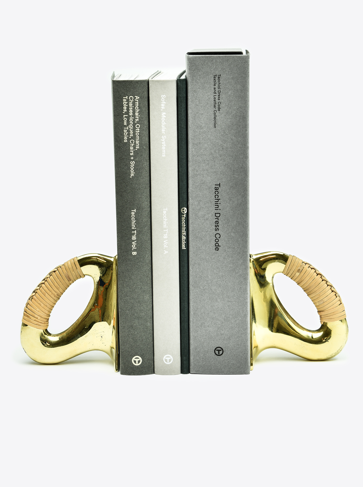 "Bookend Set ""Flat Iron"" Brass polished"