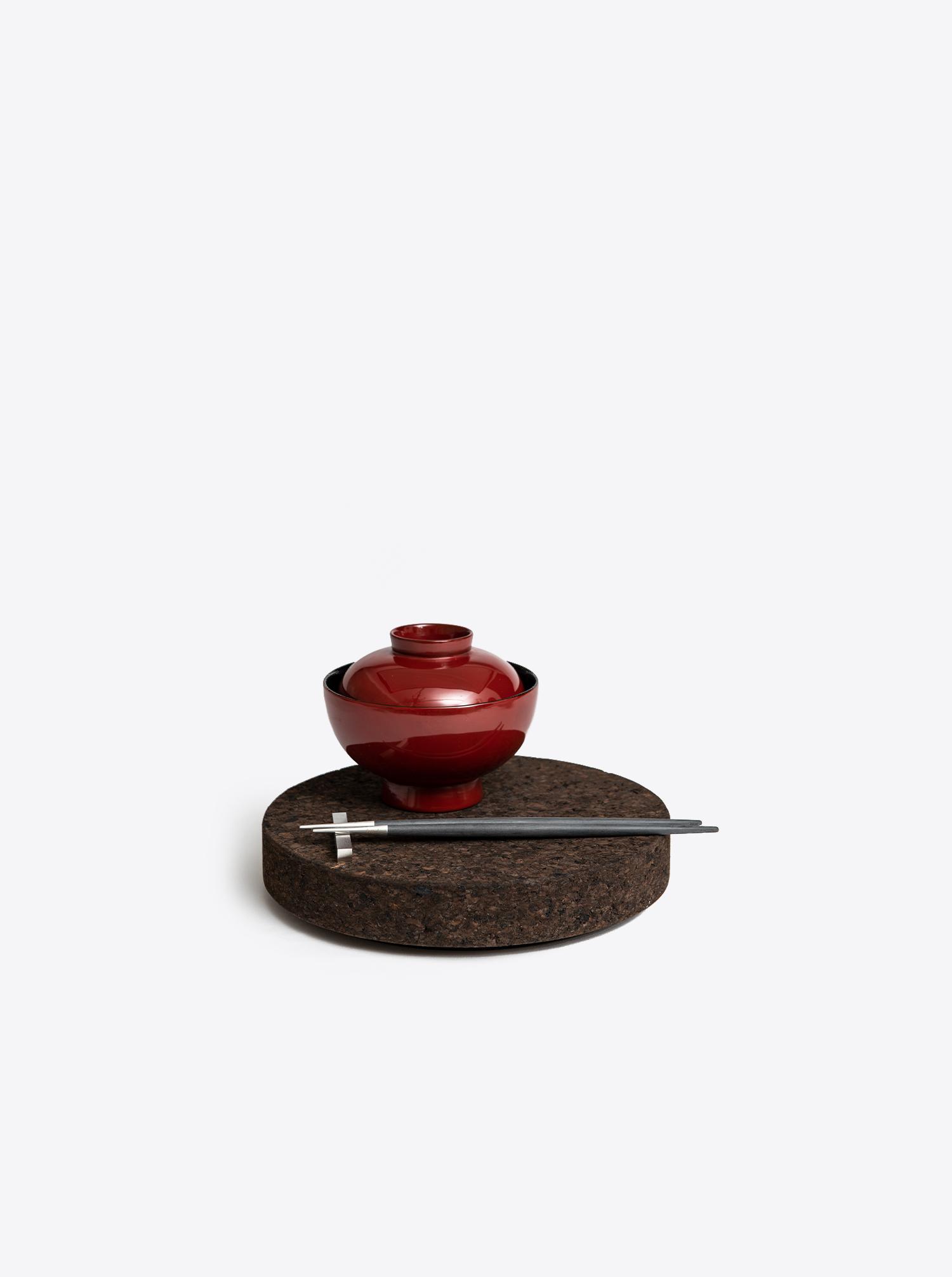 Plate MP02 cork black flamed
