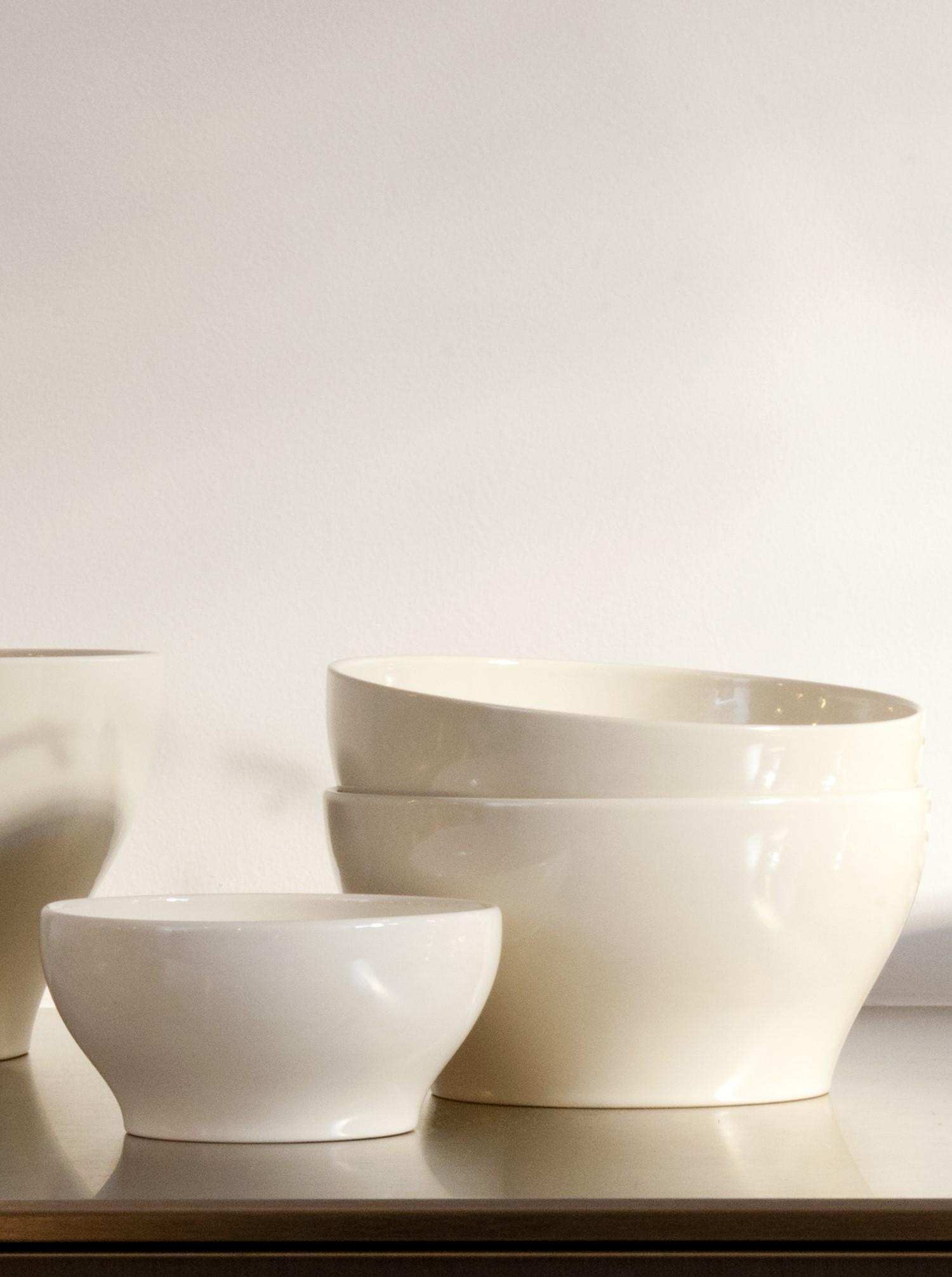 Bowl Stoneware off-white M
