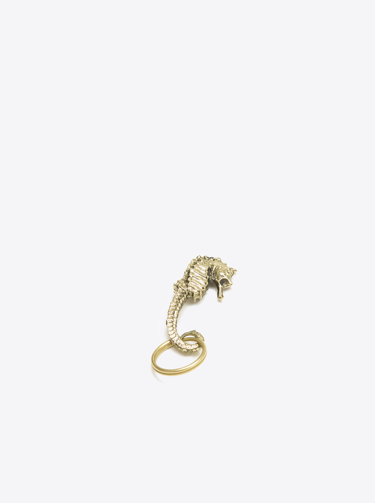 "Key Chain ""Sea Horse"" Brass polished"