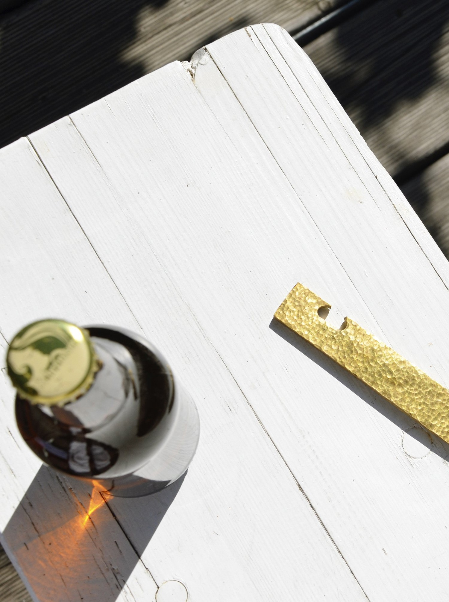 "Bottle Opener ""Open"" Brass"