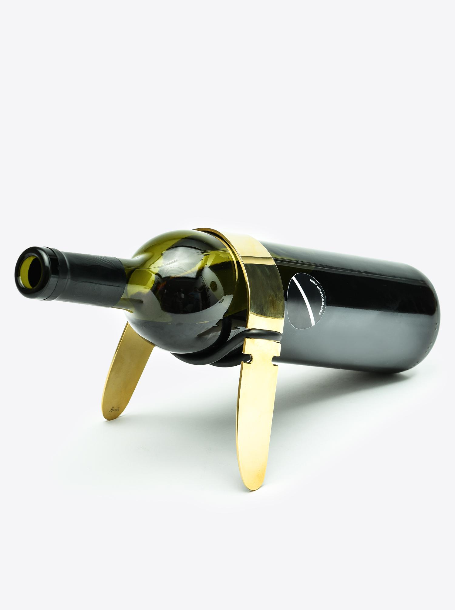 Flaschenschlinge Messing poliert