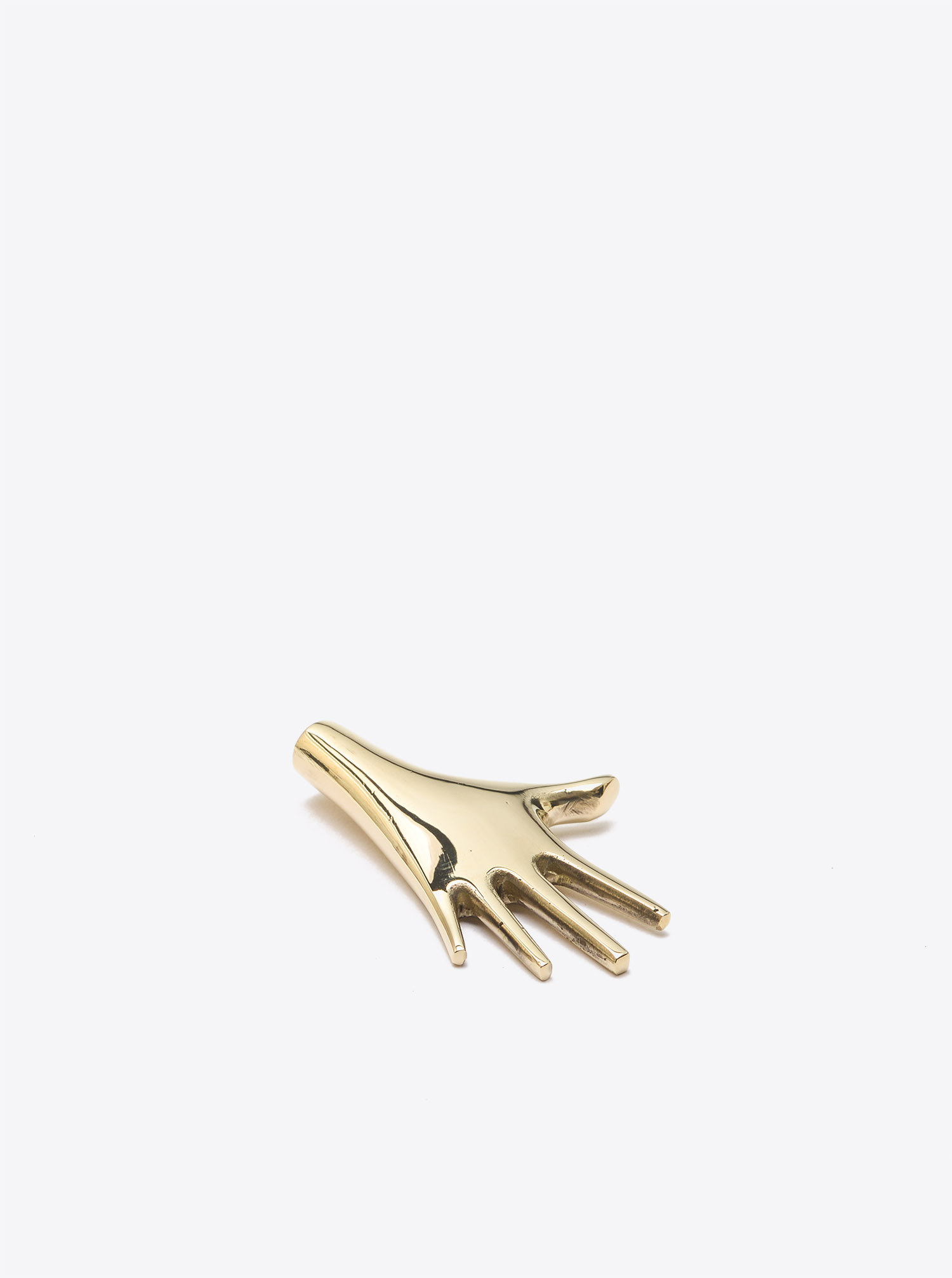 "Paperweight ""Hand"" Brass polished"
