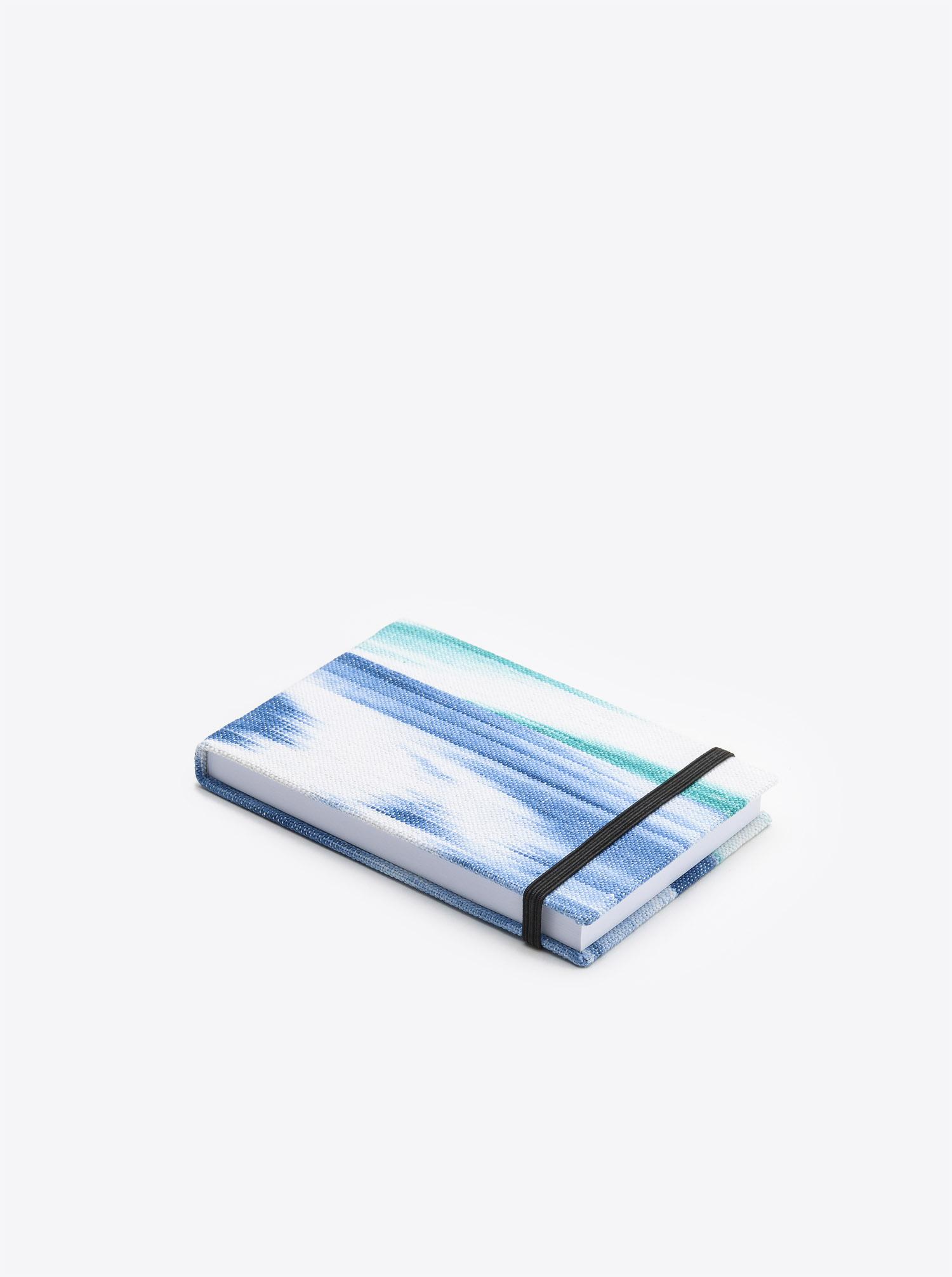 Notizblock Ikat blau türkis